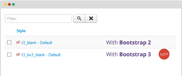 T3 Framework is compatible with Bootstrap 3
