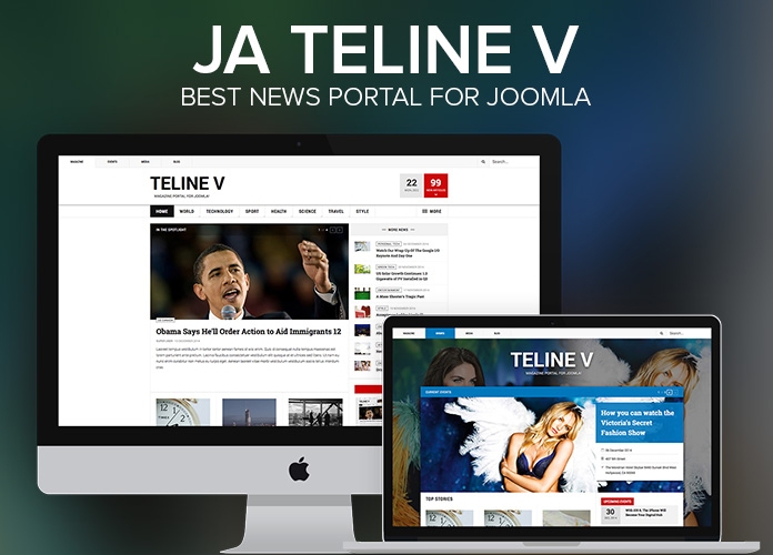 JA Teline V is the best news portal for Joomla