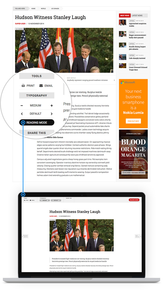 Improved Article View