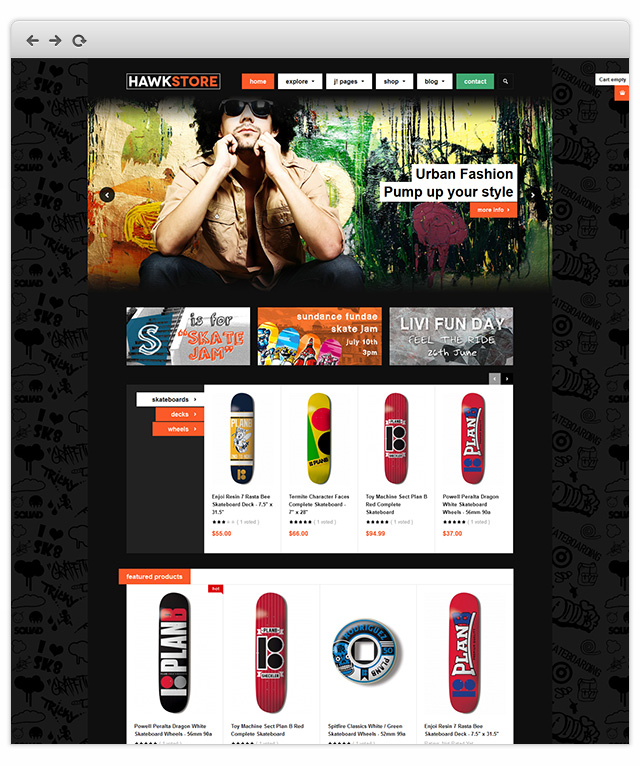 Best responsive Virtuemart ecommerce template for Joomla 2.5 - JA Hawkstore