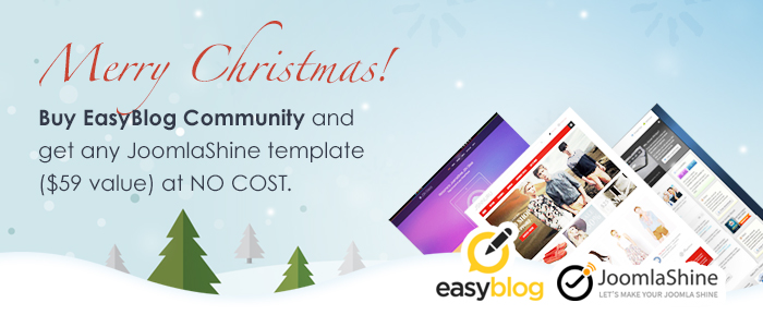 Best Joomla Christmas Deals 2013 on everything Joomla related