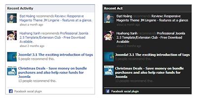 JA Facebook Activity Module - Joomla Extensions | Joomla Templates