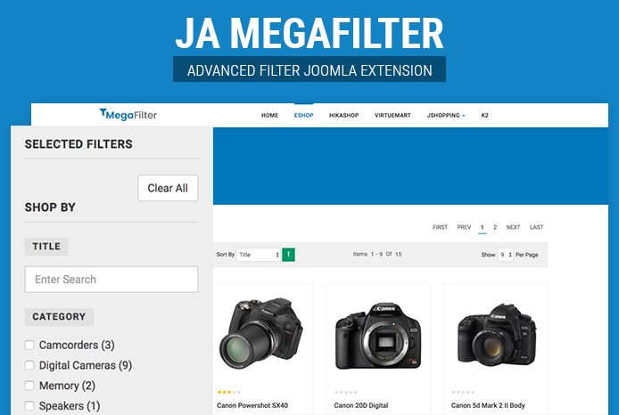 Advanced Joomla filter extension