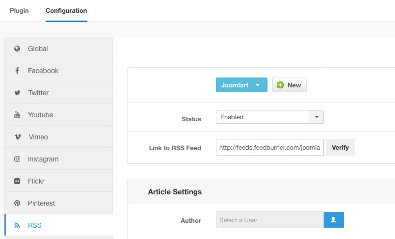 JA Social Feed - Joomla extension documentation | Joomla