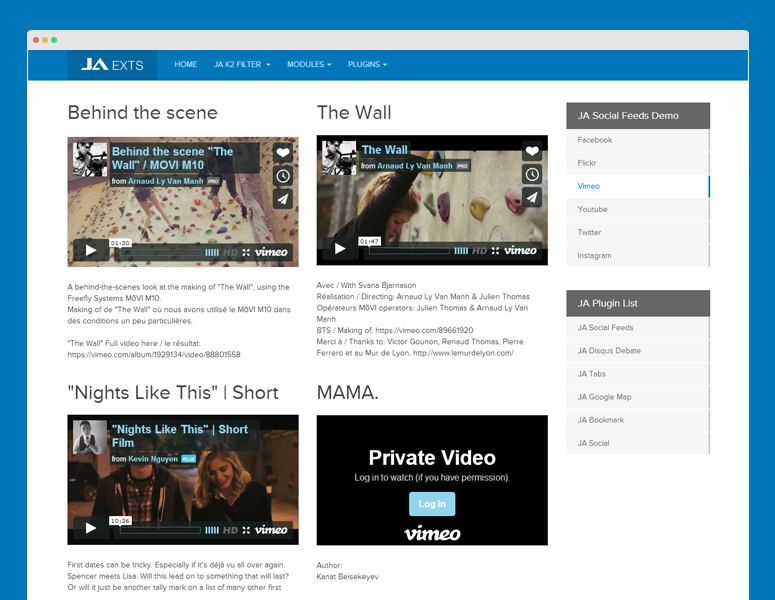 vimeo front-page