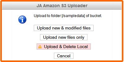 JA Amazon S3 - Cloudfront CDN Component for Joomla   Joomla