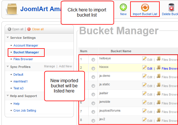 Bucket list manager