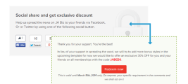JA Social Locker - Joomla extensions for Joomla 2.5 and Joomla 3