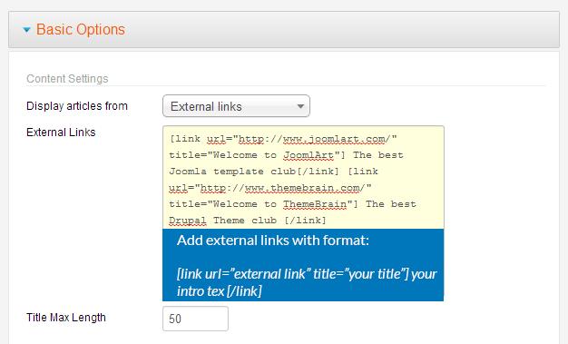 JA Newsticker - Joomla extension documentation   Joomla