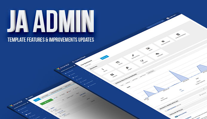 Ja Admin Joomla Admin Template Alpha Version Released Joomla
