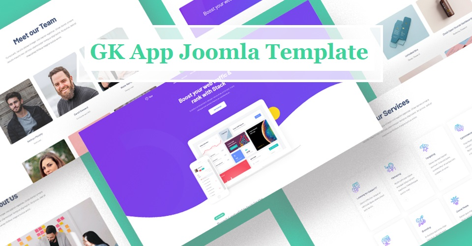 app & software Joomla Template