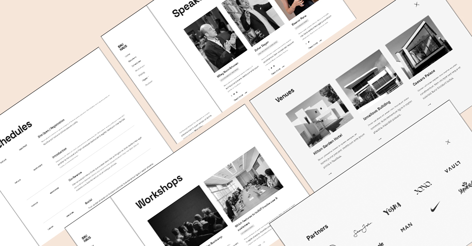Joomla events and conference template