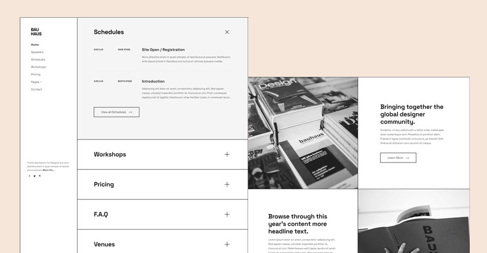 One page Joomla template for events and conference