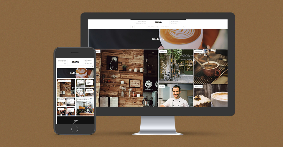 restaurant Joomla template photo gallery