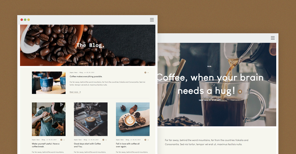 Bars Joomla template blog page