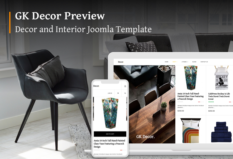 Joomla template for decor and interior - GK Decor