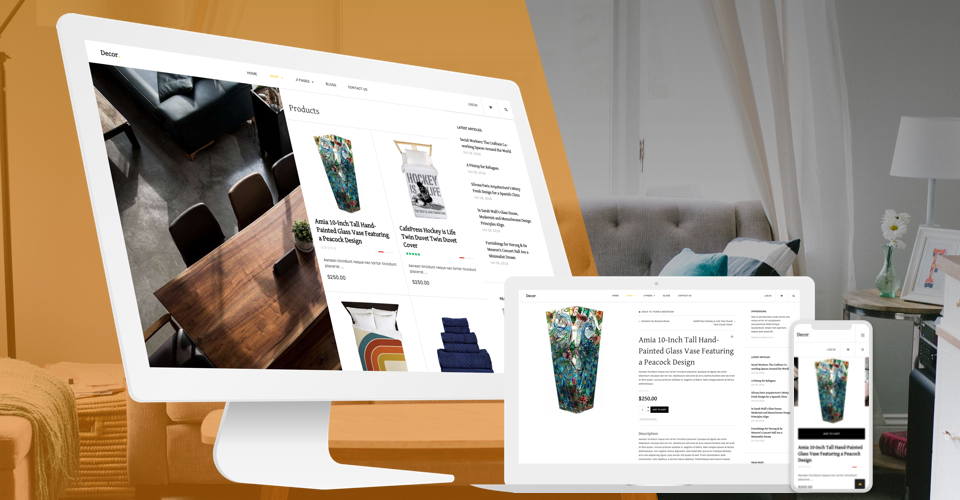 Responsive e-commerce Joomla template GK Decor