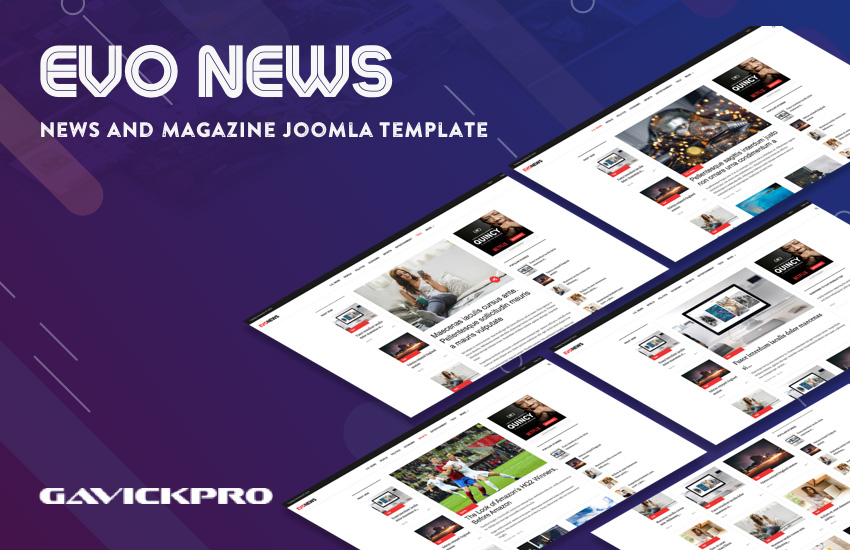 Joomla template for news and magazines website - GK Evo News