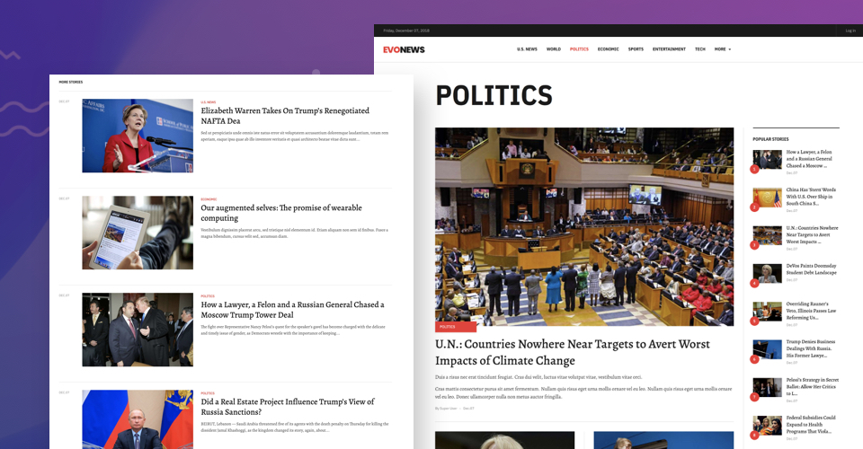 Joomla template for news and magazine