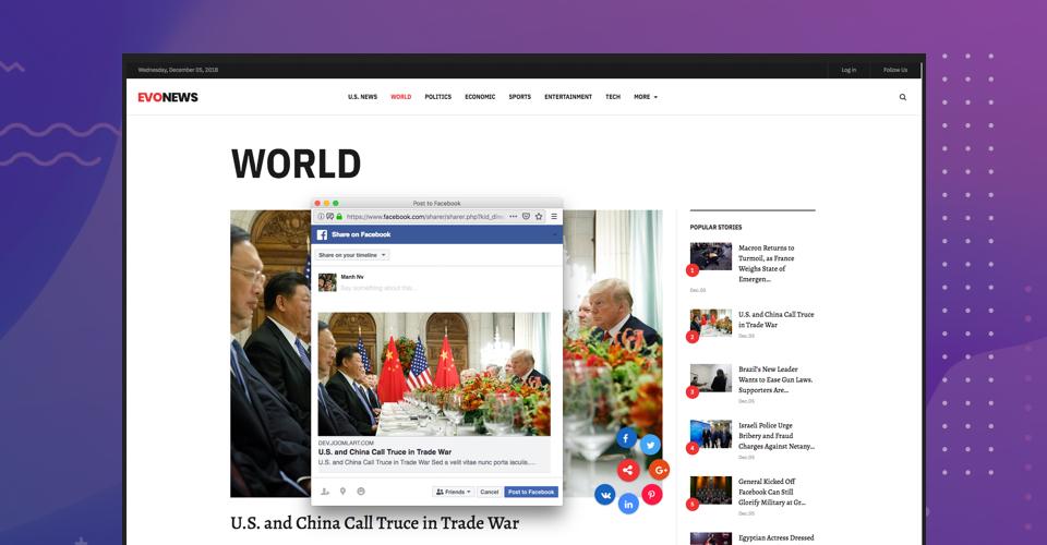 User frieldly social share buttons  gavick evo news Joomla template