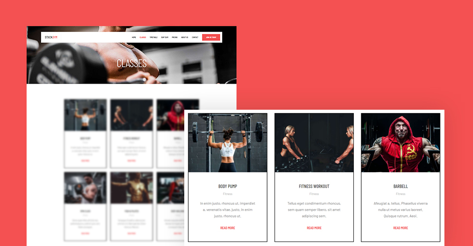Joomla template for fitness ang gym