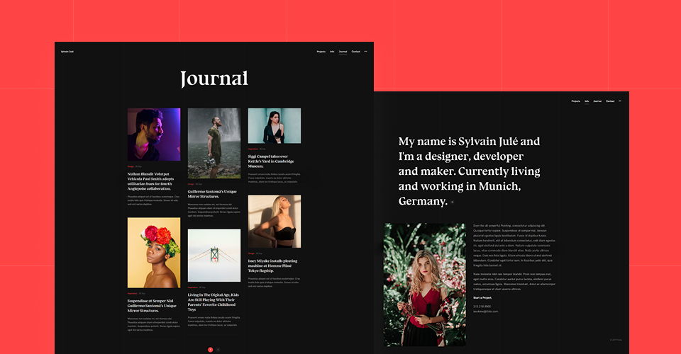 additional pages for portfolio Joomla template
