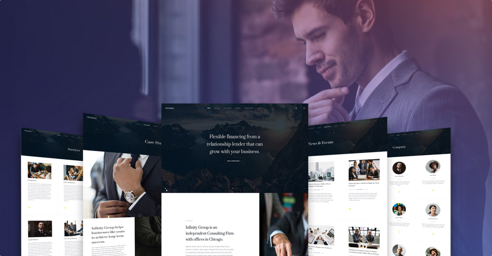 Dedicated designed for business, corporate and company sites - gavick Infinity Joomla template