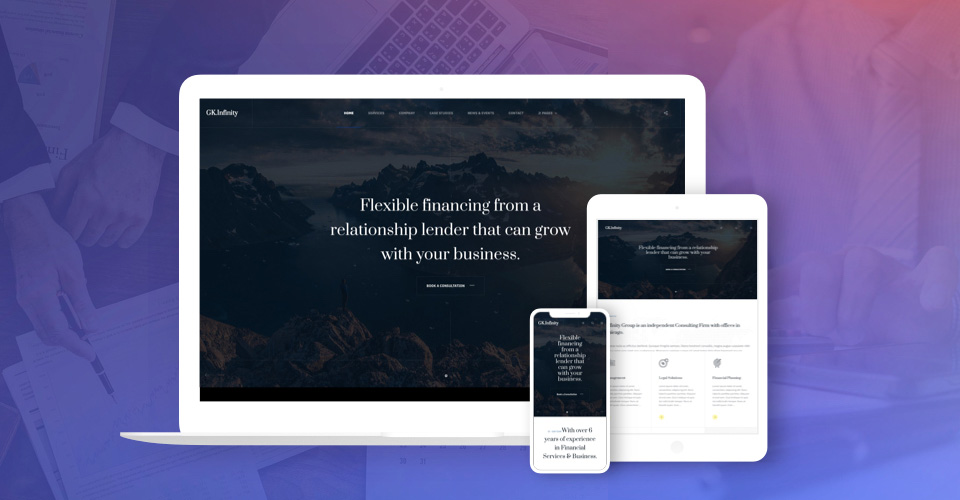 Responsive business Joomla template