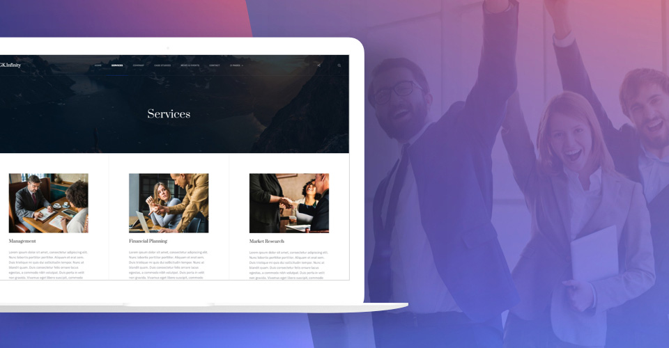 fully support business serivces  articles - gavick Infinity Joomla template