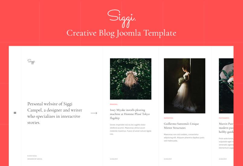 创意博客Joomla模板-GK Siggi Joomla模板
