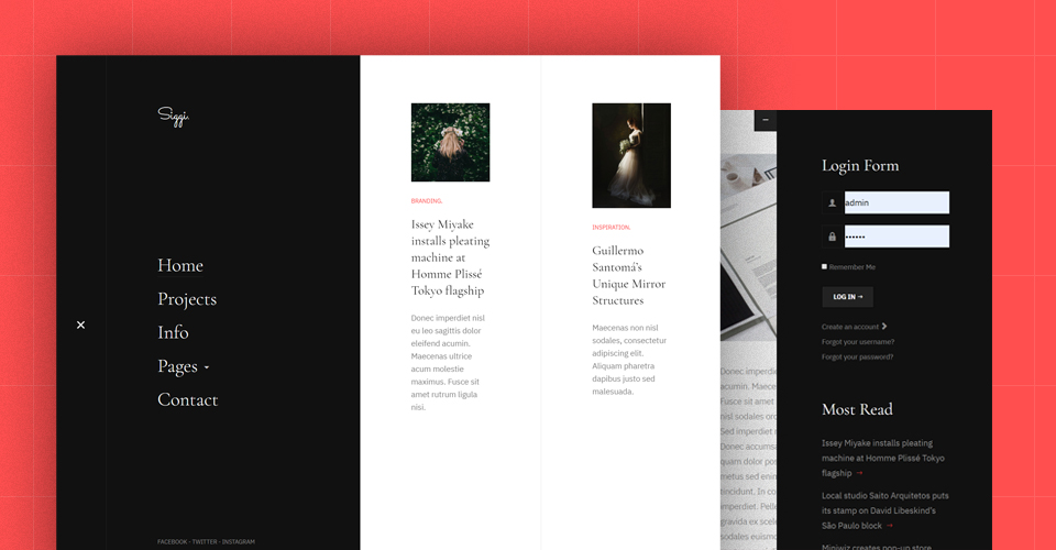 Joomla template for blog website
