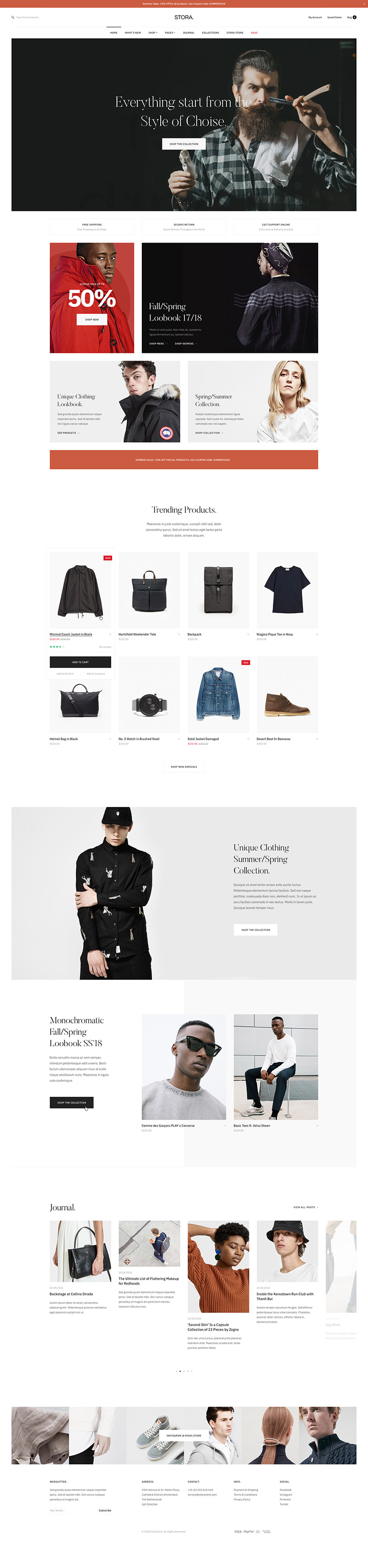 ecommerce joomla template home page GK Stora