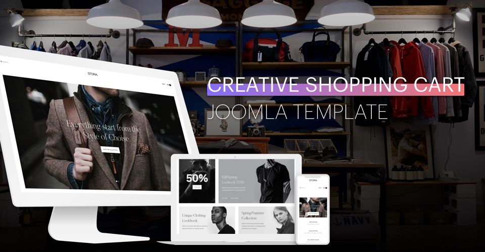 creative ecommerce joomla template
