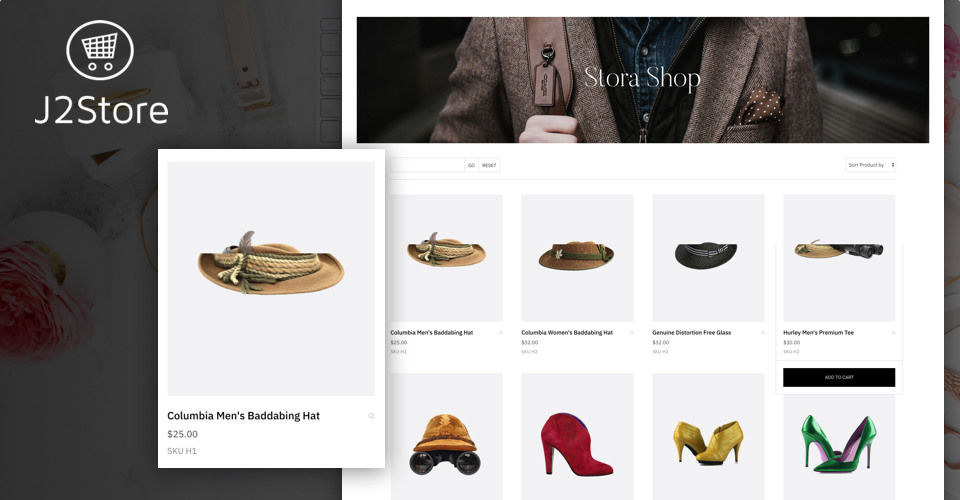 ecommerce joomla template product page