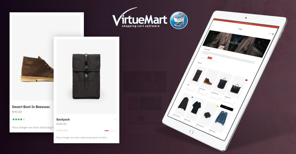 virtuemart ecommerce joomla template product page