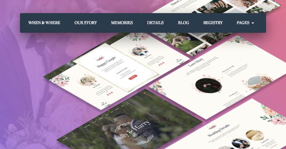 one page Joomla template for wedding website