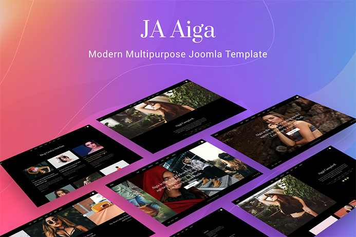 Introducing the best multipurpose Joomla template - JA Aiga