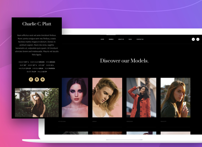 Model page - JA Aiga joomla template