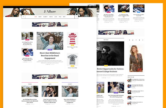 Beauty and Fashion magazine joomla template