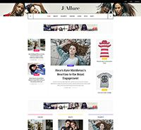 Beauty Fashion Magazine Joomla template - JA Allure