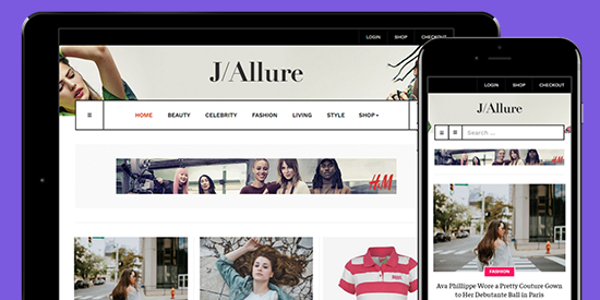 responsive fashion magazine joomla template