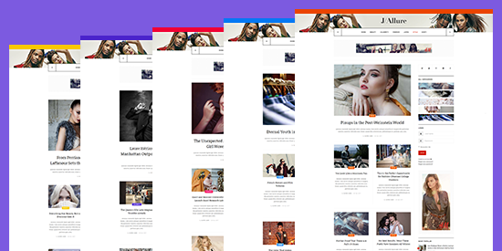 multiple color Joomla template