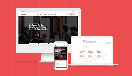 responsive consulting business Joomla template