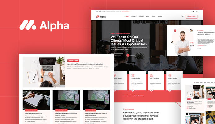 professional Consulting Business websites - JA Alpha