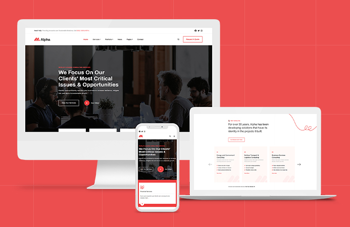 JA Alpha - Responsive Joomla template for multipurpose websites