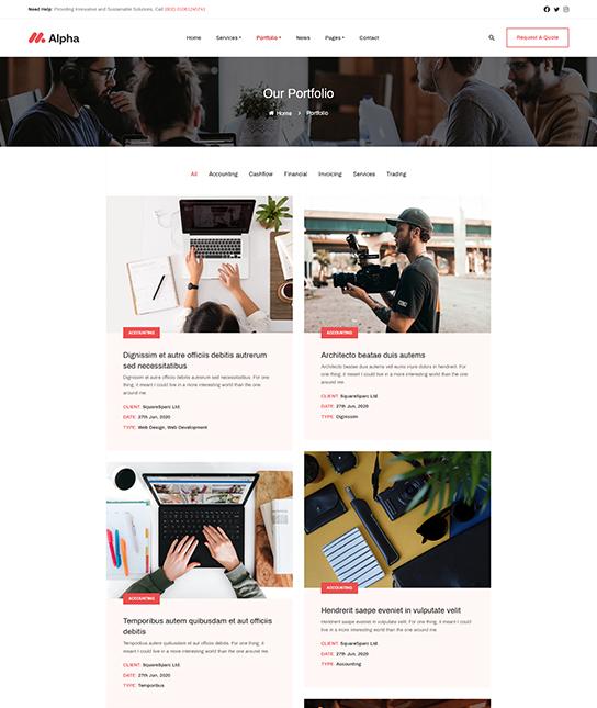 Business portfolio Joomla template - JA Alpha