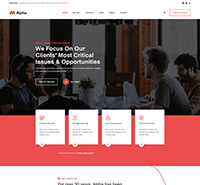 Business Joomla template - JA Alpha