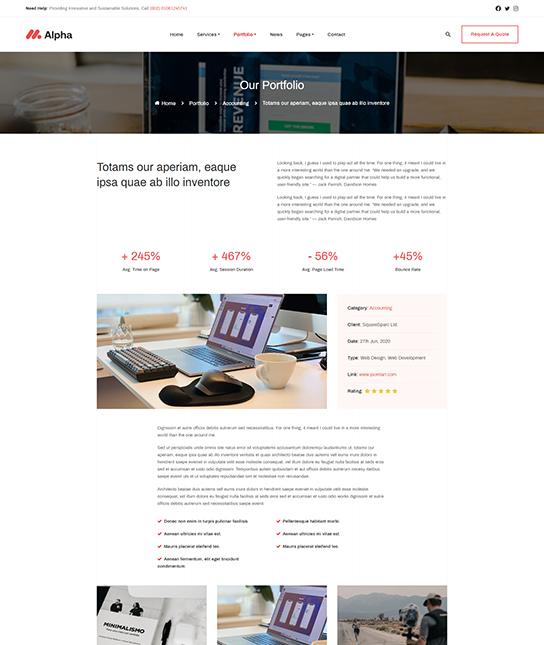 Joomla template for business portfolio - JA Alpha