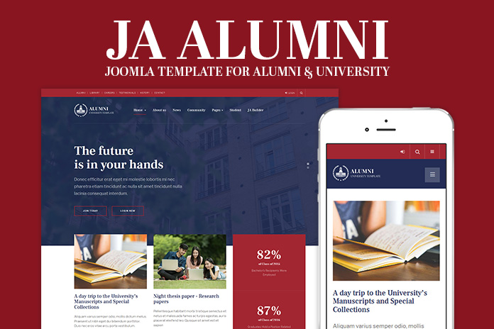 Review | Features : Alumni and University Joomla