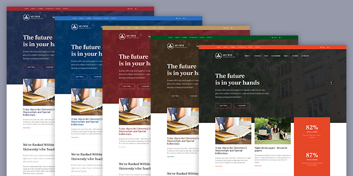 multiple theme alumni Joomla template